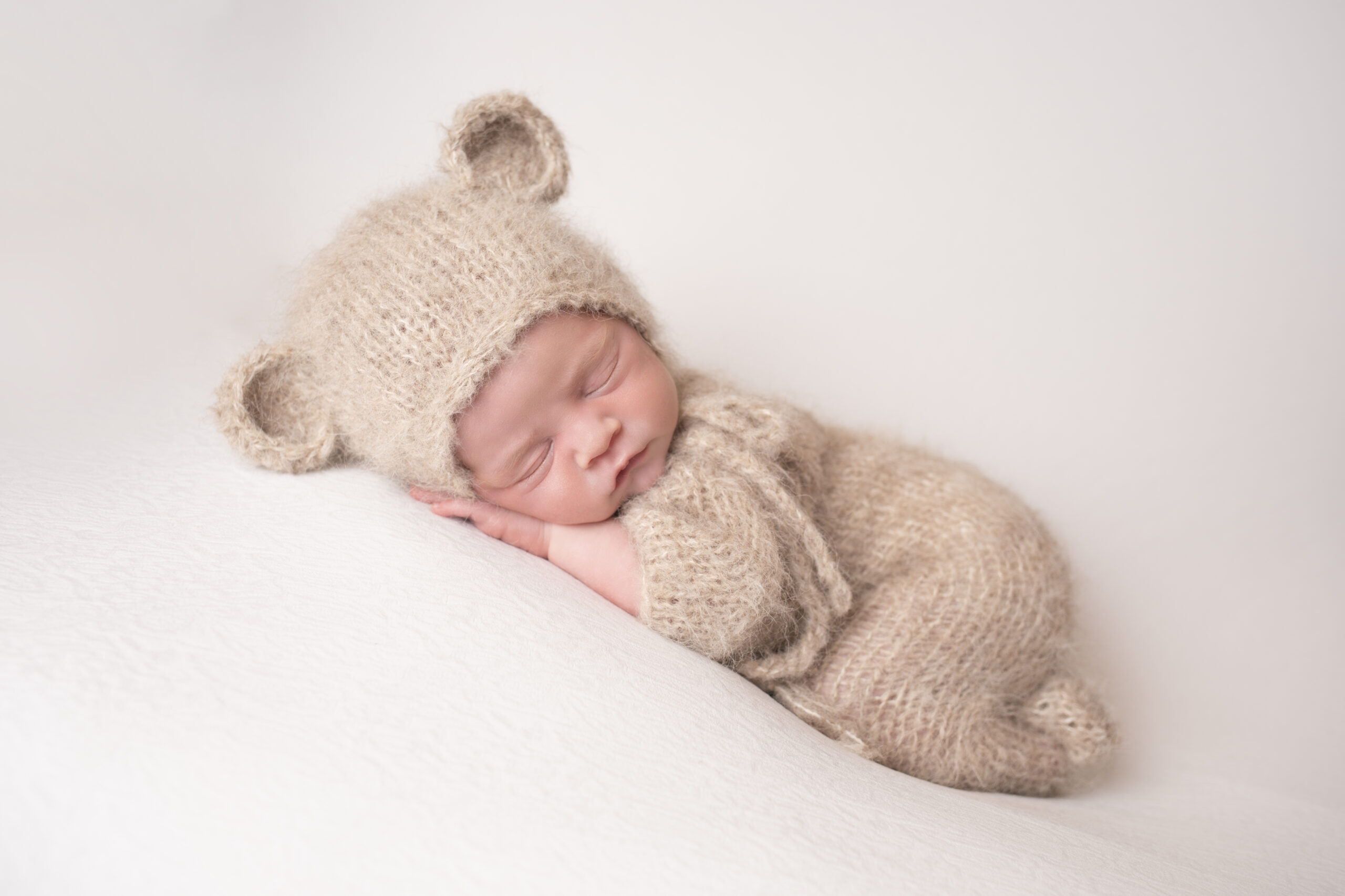 newborn photography studio baby bear Liverpool