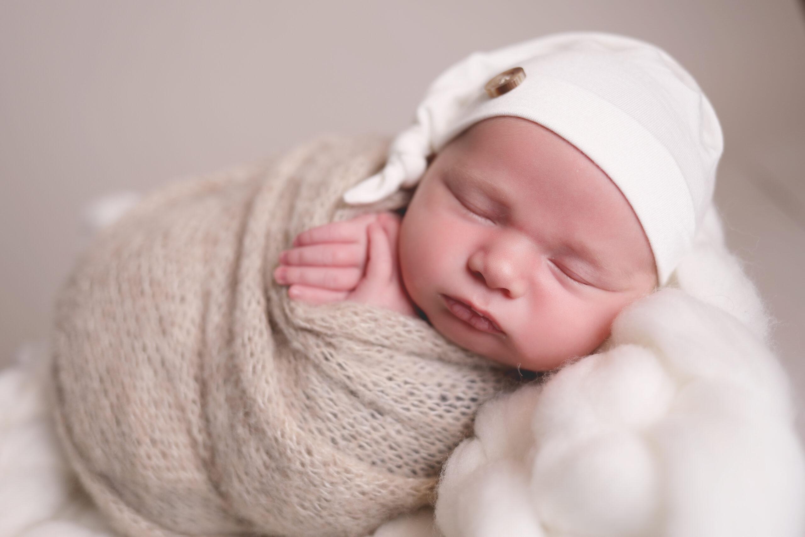 Peekaboo Liverpool newborn baby sleeping