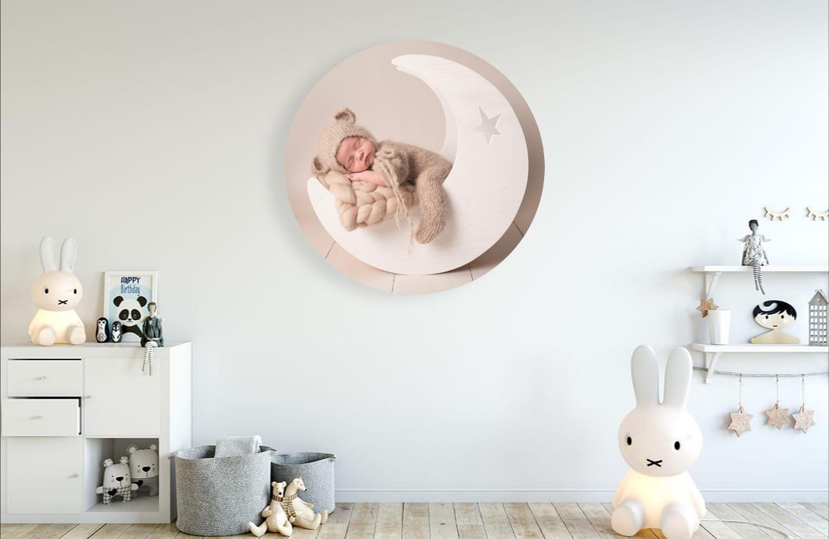 Peekaboo Newborn photography wall art example in room